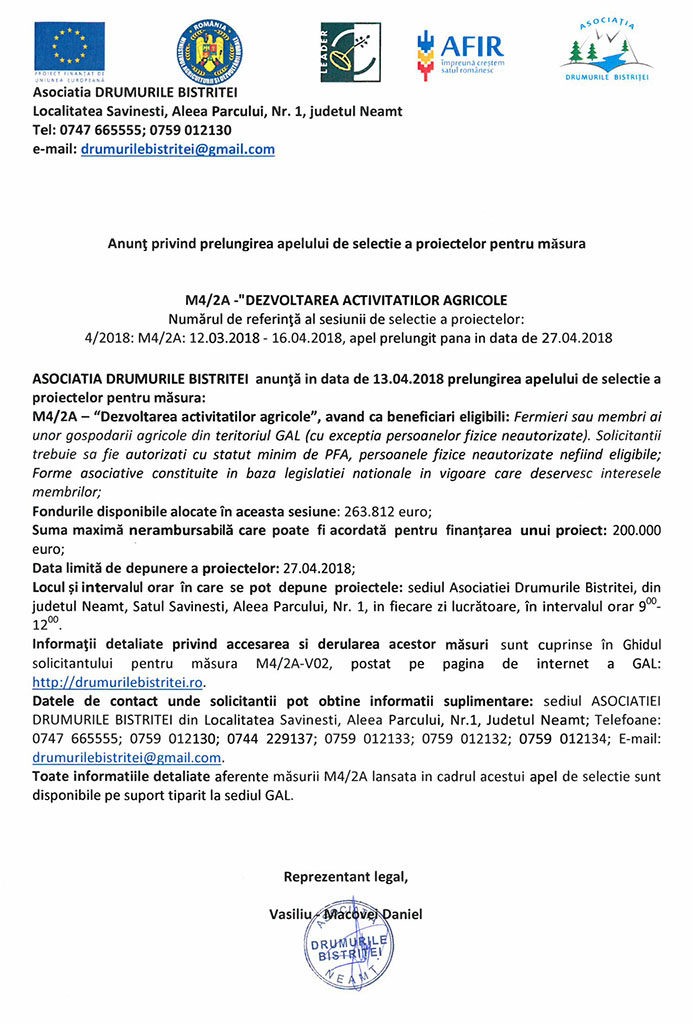 Lansare apel selectie martie 2018_M3-6A